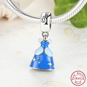 Sterling Silver 925 Princess Dress Charms