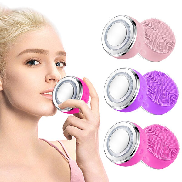 Smart LED facial cleanser brush