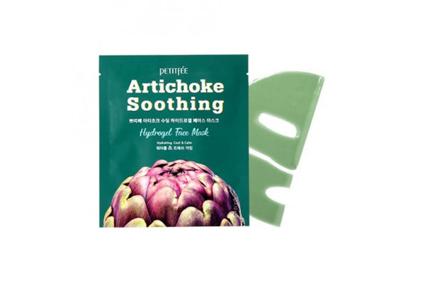 [PETITFEE] Artichoke Soothing Hydrogel Face Mask - 1pack (5pcs)
