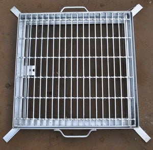 Heavy Duty Galvanized Steel Drainage Grate & Frame (Side Open) 600mm x 600mm x 50mm