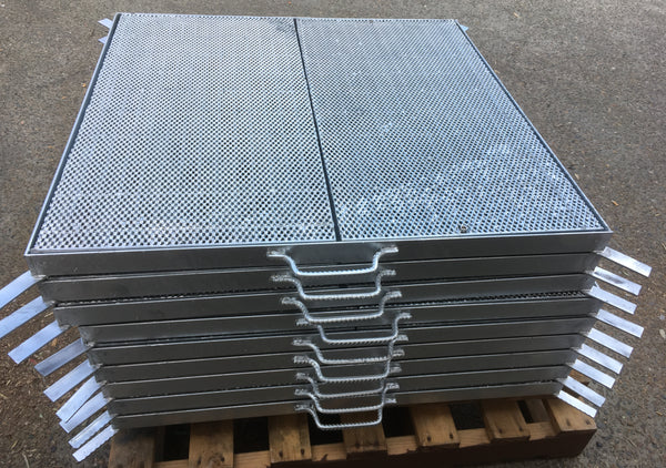 Heavy Duty Galvanized Steel Drainage Heelguard Grate & Frame (Center Open) 1000mm x 1000mm x 50mm