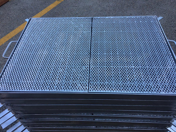 Heavy Duty Galvanized Steel Drainage Heelguard Grate & Frame (Center Open) 600mm x 900mm x 50mm