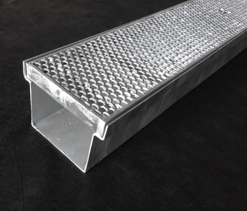 Heavy Duty Hot Dip Galvanized Heelguard Storm Water Grate & Channel 150/230mm X 1/2/3m
