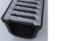 Pressed Galvanized Drainage Grate with Black Polymer Channel