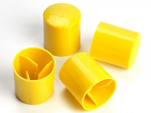 Yellow Post Caps - Fits Snug On Post - Pack Of 50 Caps
