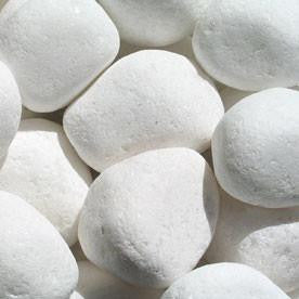 Pebbles | Snow White Pebbles, 10-20mm, 20-25mm, 30-35mm, 40-50mm, 50-70mm, 1/2Ton OR 1Ton