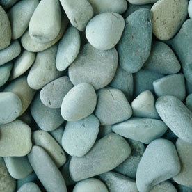 Pebbles | Natural Green Beach Pebble - 30-50mm - 1/2T OR 1T