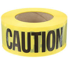 Black & Yellow Heavy Duty Caution Tape 75mm x 100m