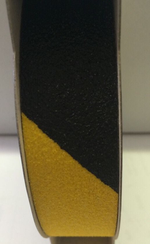 Anti Skid Non-Slip Tape 25mm x 5m | Black & Yellow High Visibility