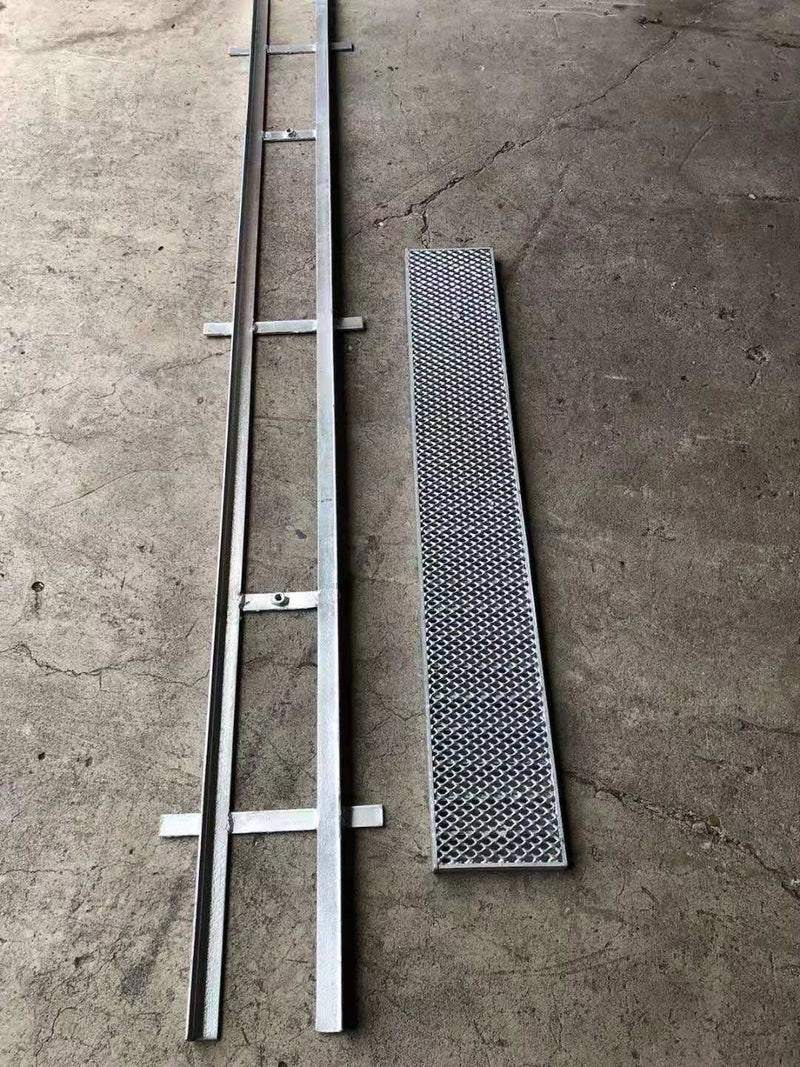 Complete Set Hot Dip Galvanized Steel Heelguard Grates & Frames 150(W)×25 (H)mm×2m(L)