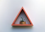 "15"" Wood Triangle Shelf - Tropical Collection"