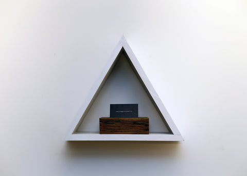 "15"" Wood Triangle Shelf"