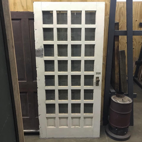 "7'5"" x 42"" Vintage Glass Panel Door"