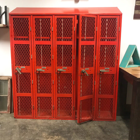 Vintage 5 Bay Heavy Duty Lockers