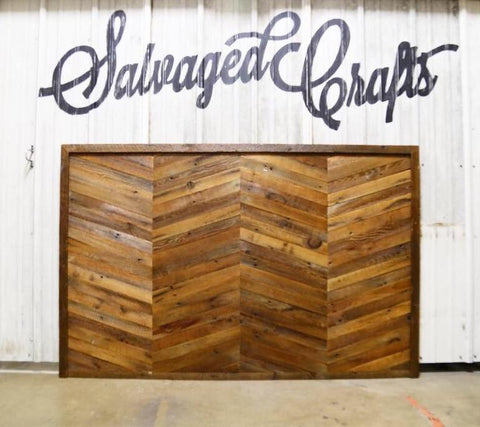 Chevron Reclaimed Wood Headboard