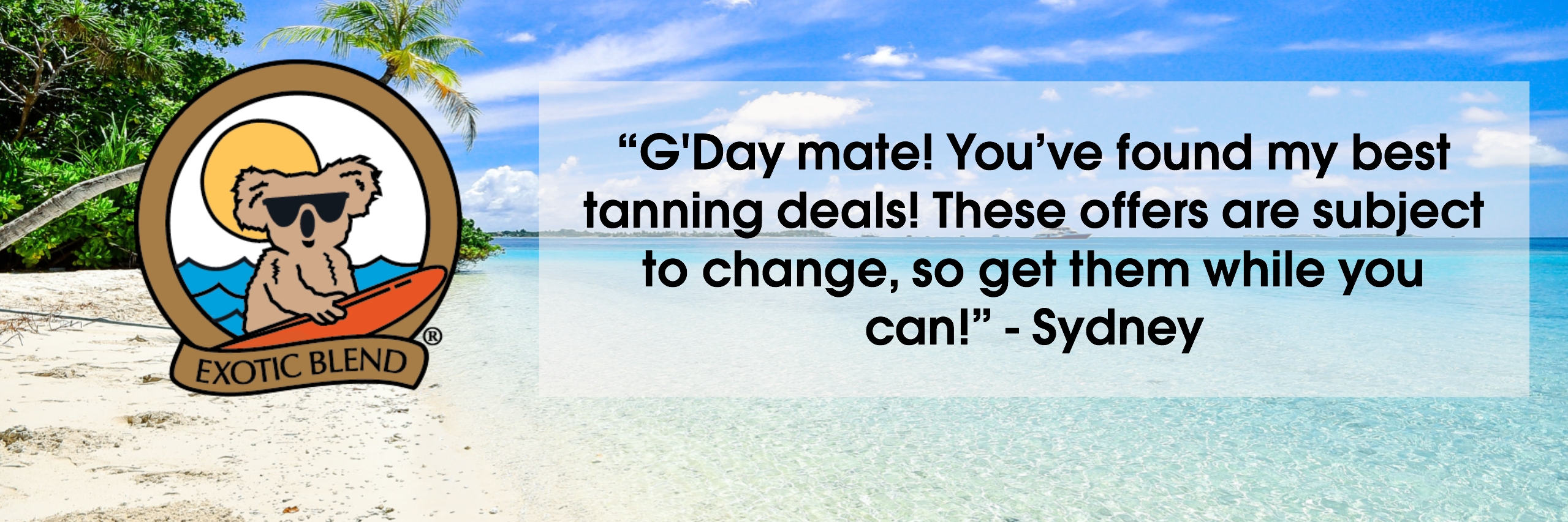 Australian Gold offers save tanning lotion accelerator deal