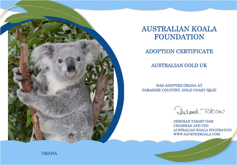 Australian Gold UK adopt Orana the Koala