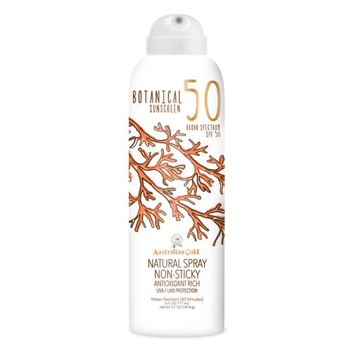 australian gold SPF 50 botanical sun cream spray