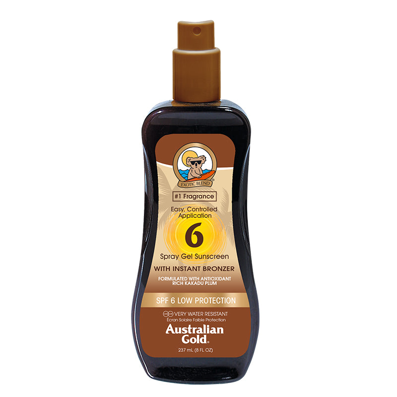 Australian Gold SPF 6 Spray Gel with Bronzer