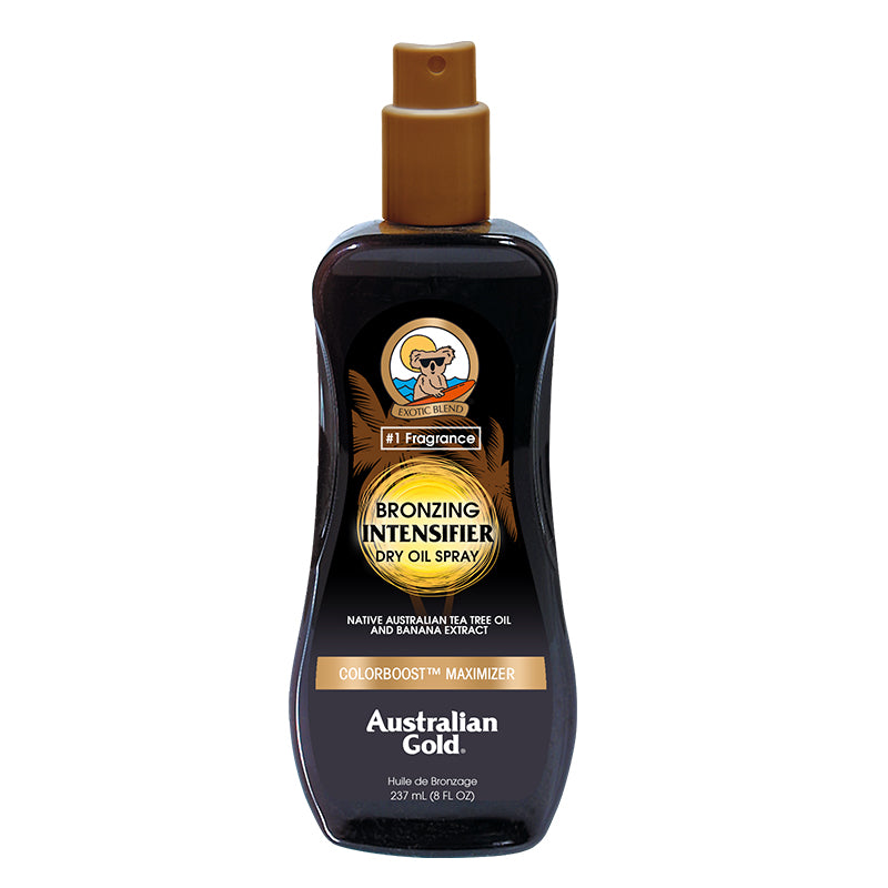 Australian Gold Bronzing Intensifier Dry Oil Spray outdoor tanning sunbathing tanning lotion accelerator