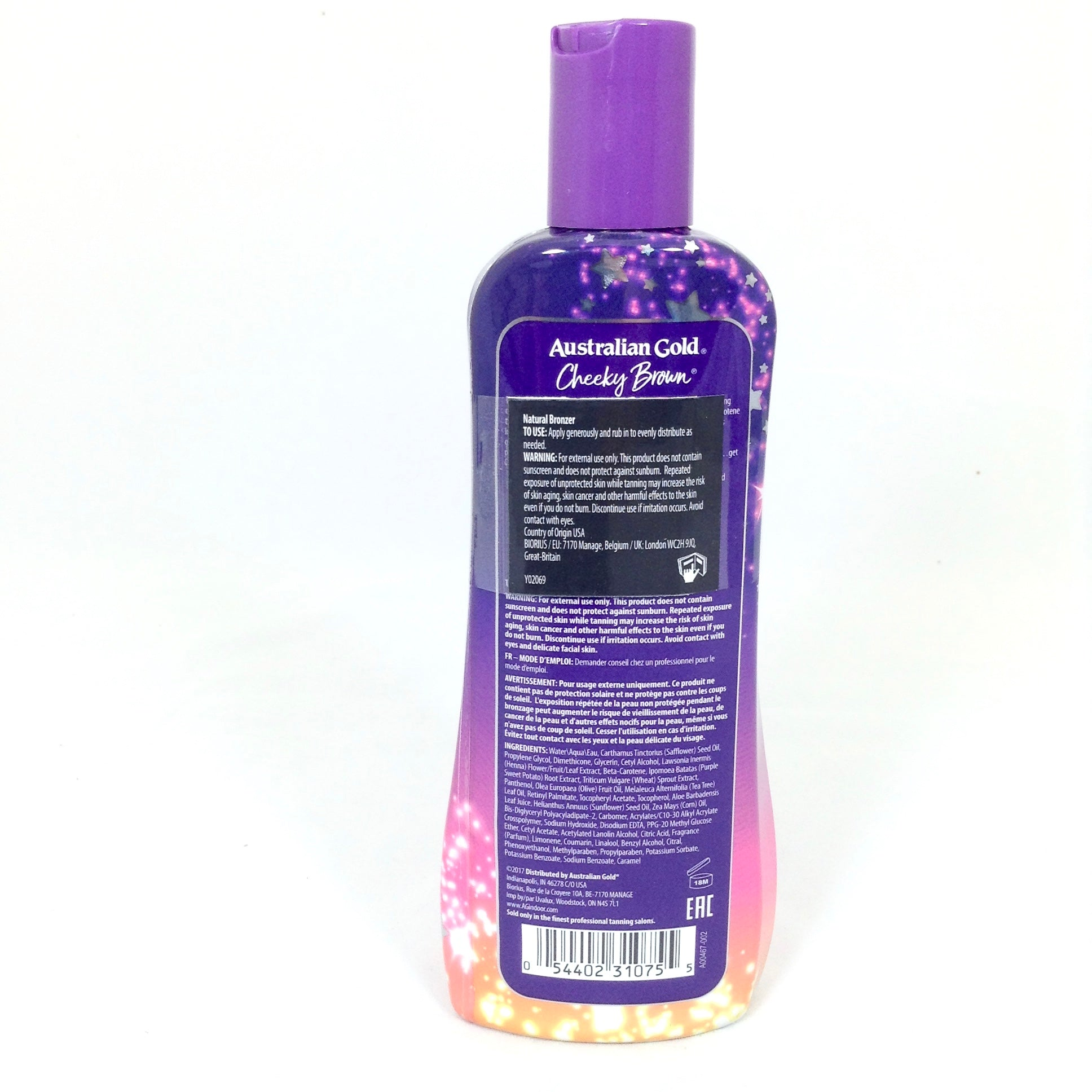 Australian Gold Cheeky Brown immediate bronzer tanning lotion