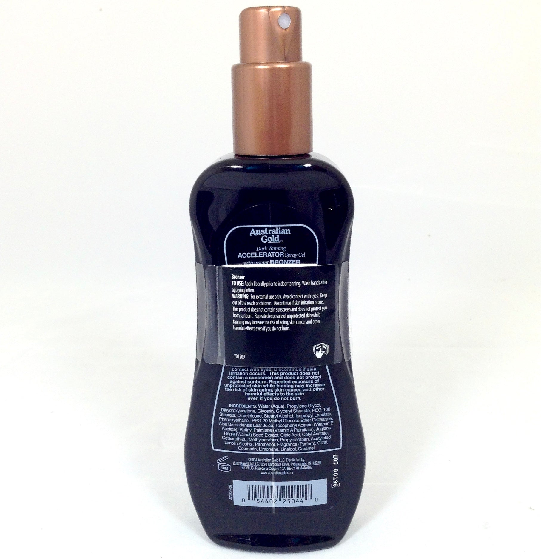 Dark Tanning Accelerator Spray Gel with Bronzer