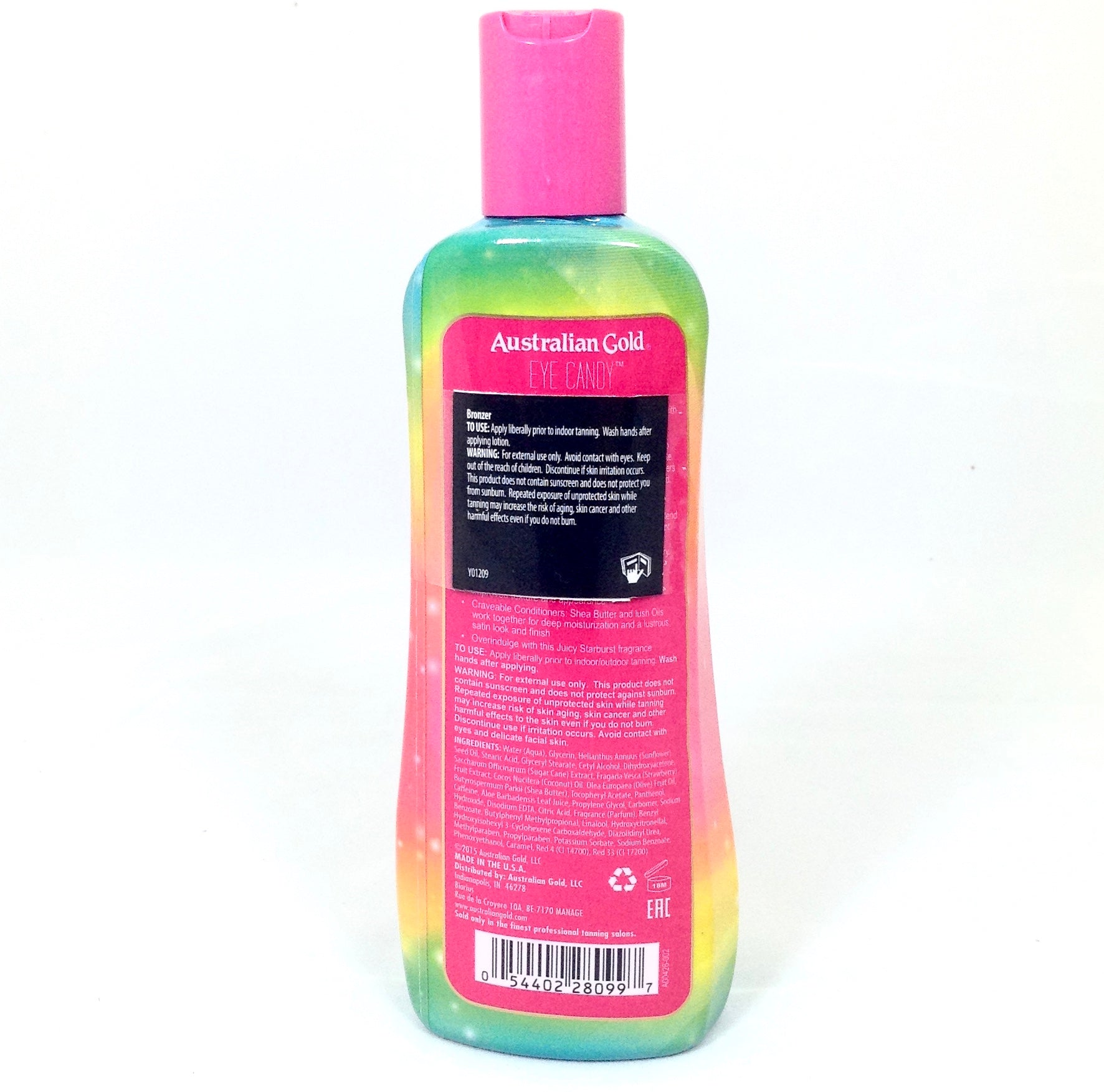 Australian Gold Eye Candy delayed bronzer tanning lotion