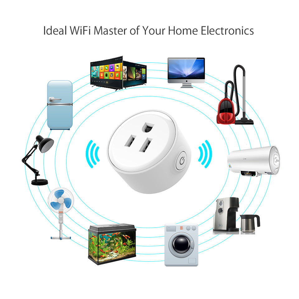 Smart Wifi US Plug Remote Control Power Switch for Smart Home ...