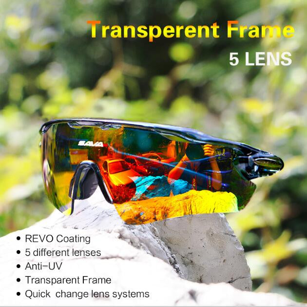 5 Lens Polarized Cycling Sun Glasses