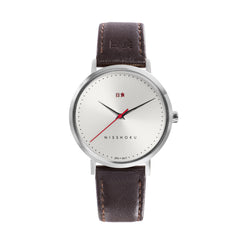 Eclipse Brown Leather 38mm Silver
