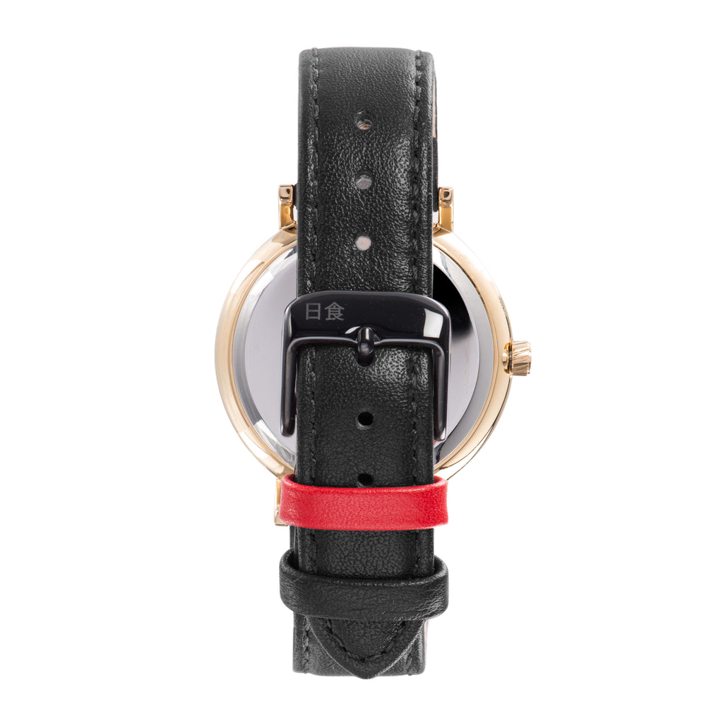 Eclipse Black Leather 38mm Gold