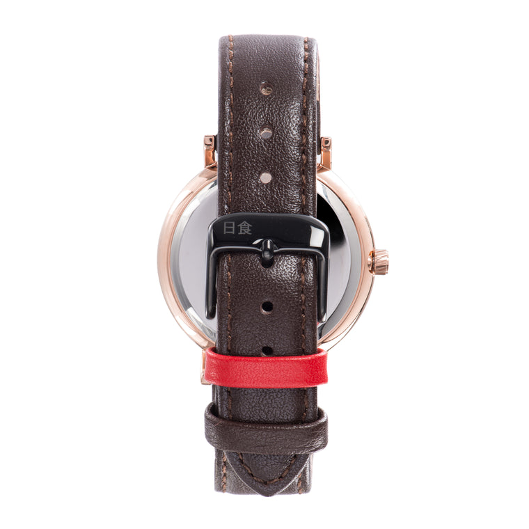 Eclipse Brown Leather 38mm Rose Gold