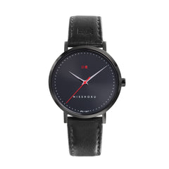 Eclipse Black Leather 38mm Black