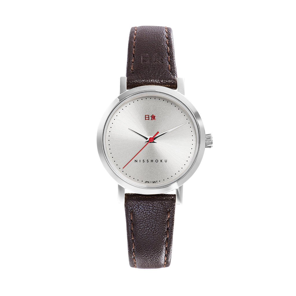 Eclipse Brown Leather 30mm Silver