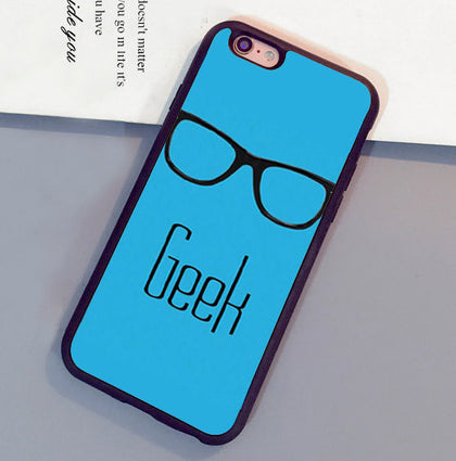 Cute Glasses Case Funny Nerd Dork GEEK Printed Mobile Phone Cases For iPhone 6 6S Plus 7 7 Plus 5 5S 5C SE 4S Soft Rubber Cover