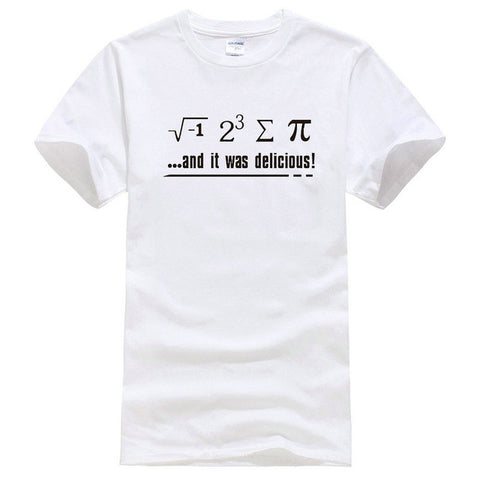 Fashion Classic Men'S Short Nerdy Geek Unisex S-2Xl Humor Math Is Delicious Zomer O-Neck T Shirts