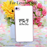 514QAO geek is the now sexy Transparent Hard for Lenovo S850 S850T S60 S90 A563/A358T A328 A328T Case Cover
