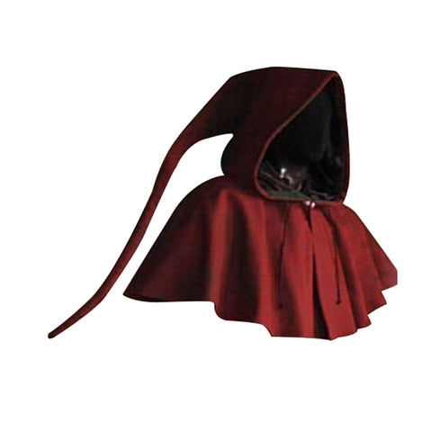 Medieval Cowl Hat Costume Men Women Vintage Renaissance Monk Cosplay Hooded Cape Clothing Accessory