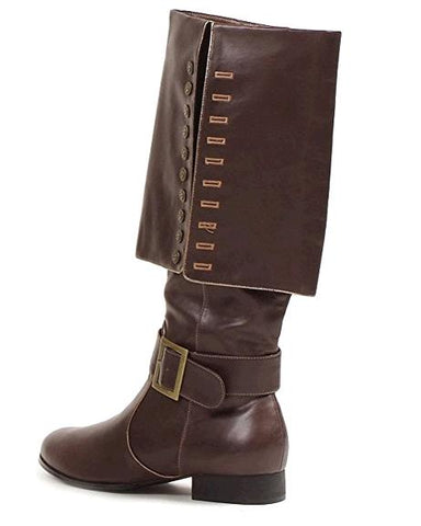 PU Leather Men Long Boots Knee-high Zip Motorcycle Combat Boots Man Riding Army Boots Halloween Captain Pirate Boot Shoes