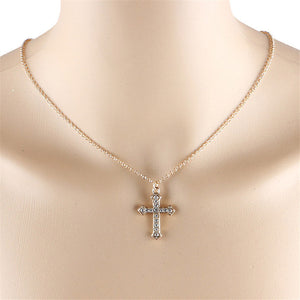 Rhinestone Choker Cross Necklace