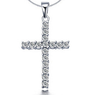 Silver Plated Necklace Silver Jewelry Cross Pendant