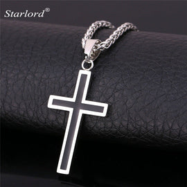 Stainless Steel Cross Necklace for Men