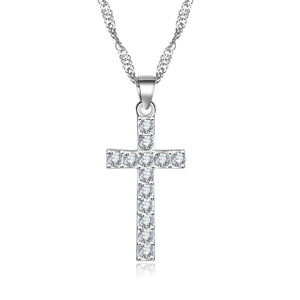 Zircon Crystal Wedding Cross necklace For Women