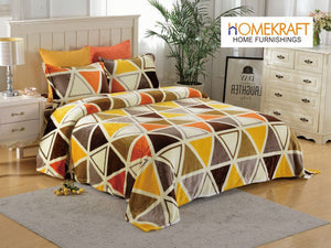 Multicolor Triangles - Warm Flannel Winter Bedsheet