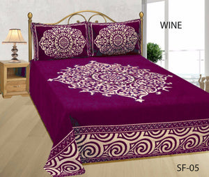 Medieval Royal Arts Heavy Chenille Bedcover- Wine
