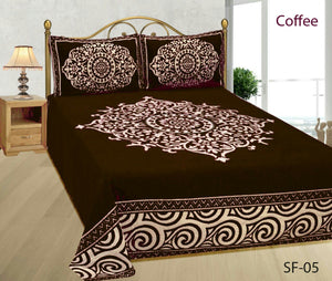 Medieval Royal Arts Heavy Chenille Bedcover- Coffee