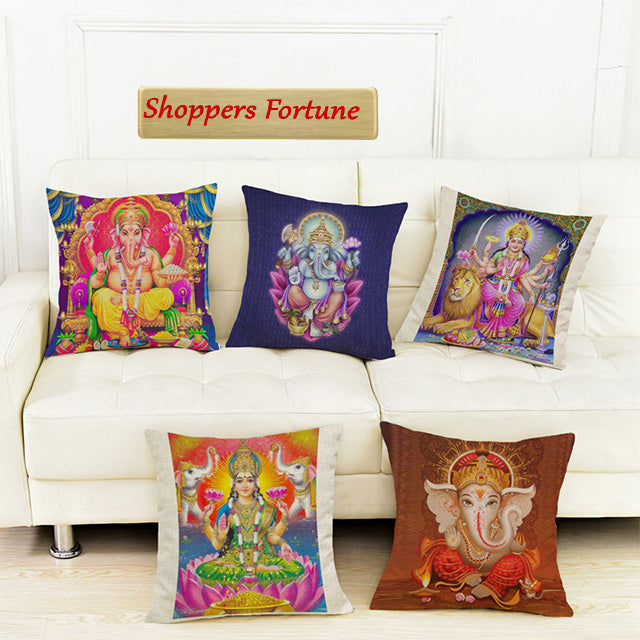 Grace thy Blessing Jute Cushion Covers(5 Piece Set) Special Edition