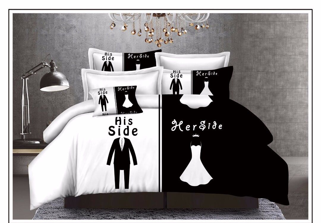 Vintage Couple Cotton Bedsheet-Always By Your Side