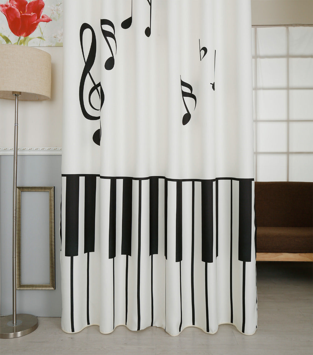 Classic Vintage Style Premium Blackout Curtains - Piano World(Set of 2)