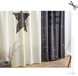 Classic Vintage Style Premium Blackout Curtains - You're my Moon & Star(Set of 2)